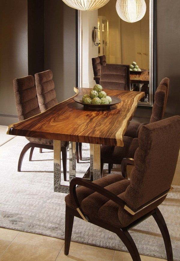 515 Best Wood Images On Pinterest  Dining Room Dinner Parties Stunning Wood Dining Room Table Design Ideas
