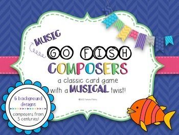 Music Go Fish - Composers: A musical take of the classic card game. Get to know the great composers with this fun game, perfect for centers!