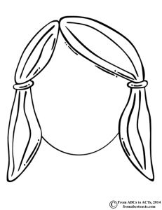 Blank Face - Girl and boy printables for fine motor, body identification.