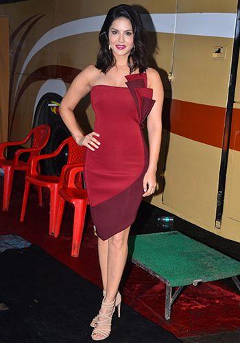 Sunny Leone in a Mehak Murpana dress.