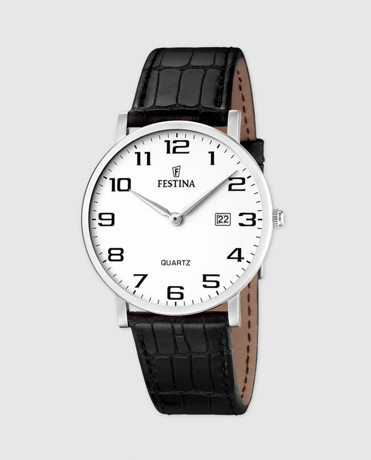 79€ Reloj de hombre Festina F16476/1 de piel negro