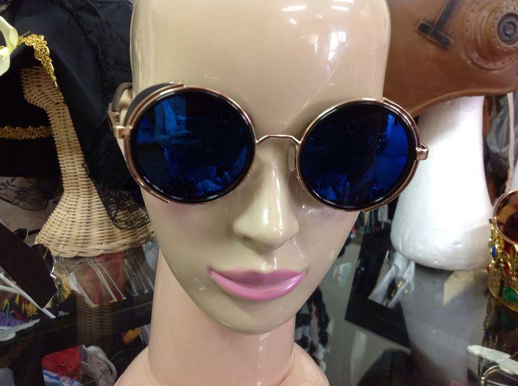 Steam Punk Blue mirror sun glasses $15