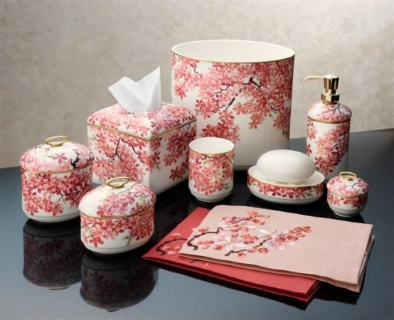 cherry blossom bathroom accessories master bathroom pinterest cherry blossoms blossoms. Black Bedroom Furniture Sets. Home Design Ideas