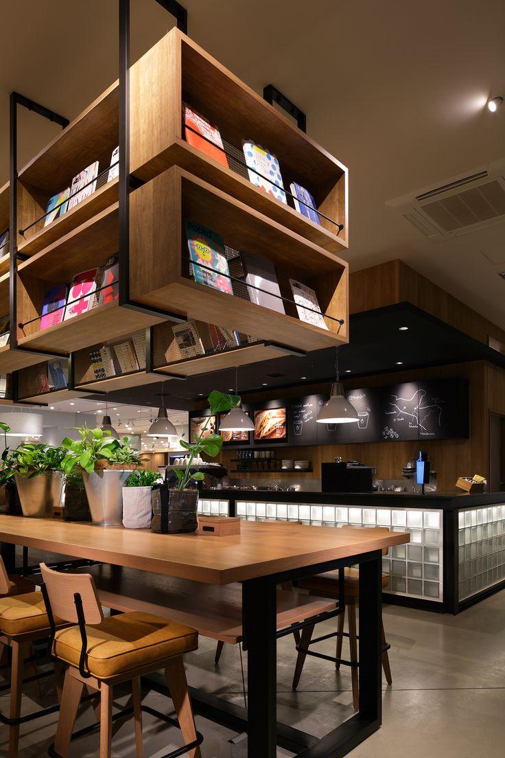 Beautiful Cafe Mit Buchladen Innendesign Bilder Pictures - Home ...