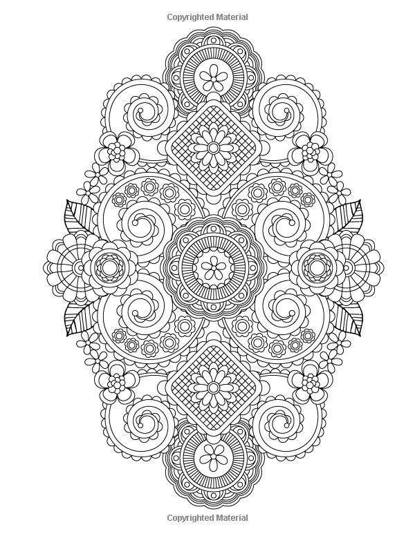 Galerry flower designs coloring book jenean morrison