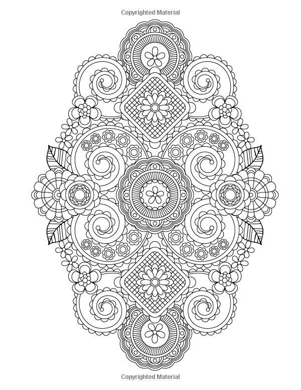 Flower Designs Coloring Book Volume 1 Jenean Morrison