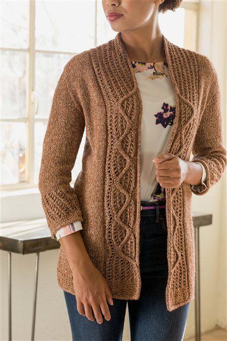 Miranda Cardigan Knitting patterns, Crochet and Yarns