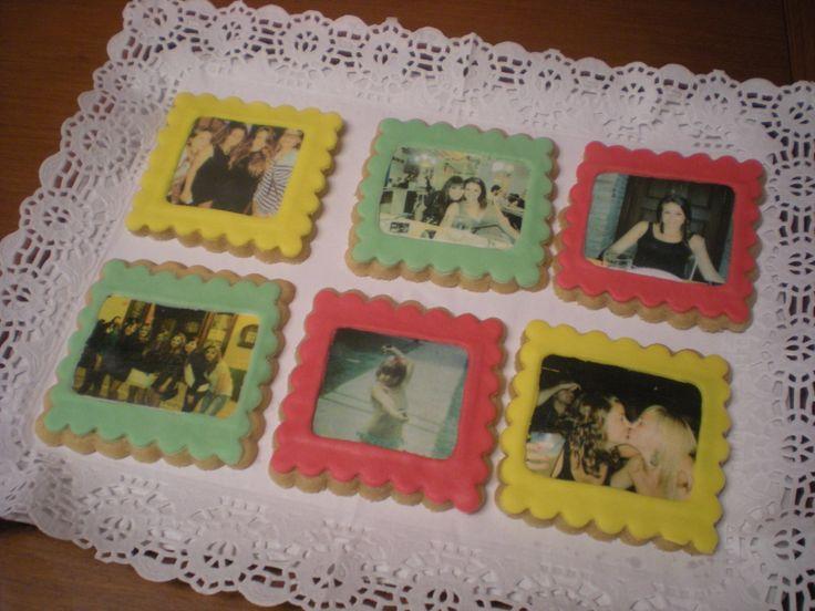 Galletas con foto para regalar en un cumpleaños! Felicidades!!
