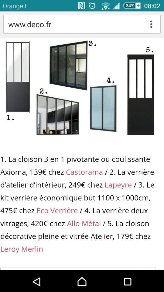 Top Castorama Verriere Interieure. Cloison Amovible Type Atelier En  MU96