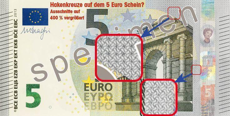 Der neue 5 Euro Schein mit Hakenkreuzen
