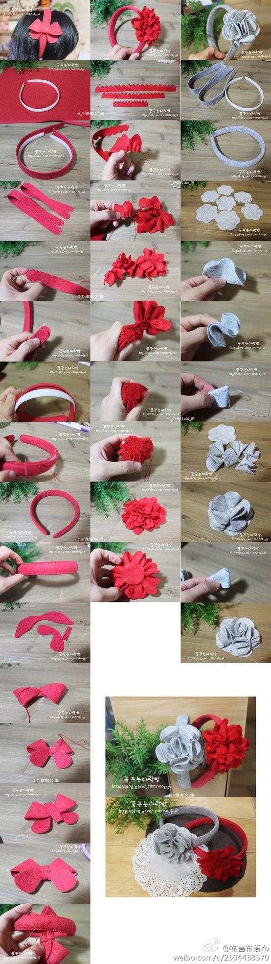 Non-woven hair clasp making tutorial