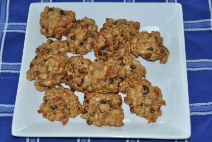 Monster Cookies (made with bananas and applesauce) - New Paradigm Health Cookery