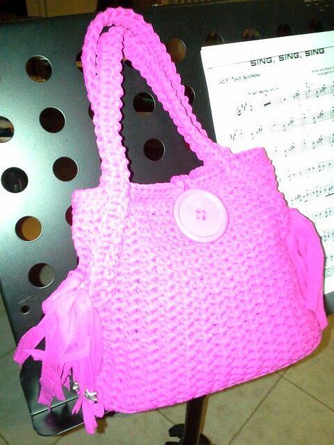 #Swing#fuxia#borsa#fettuccia#handmade#bag#uncinetto#passioneuncinetto