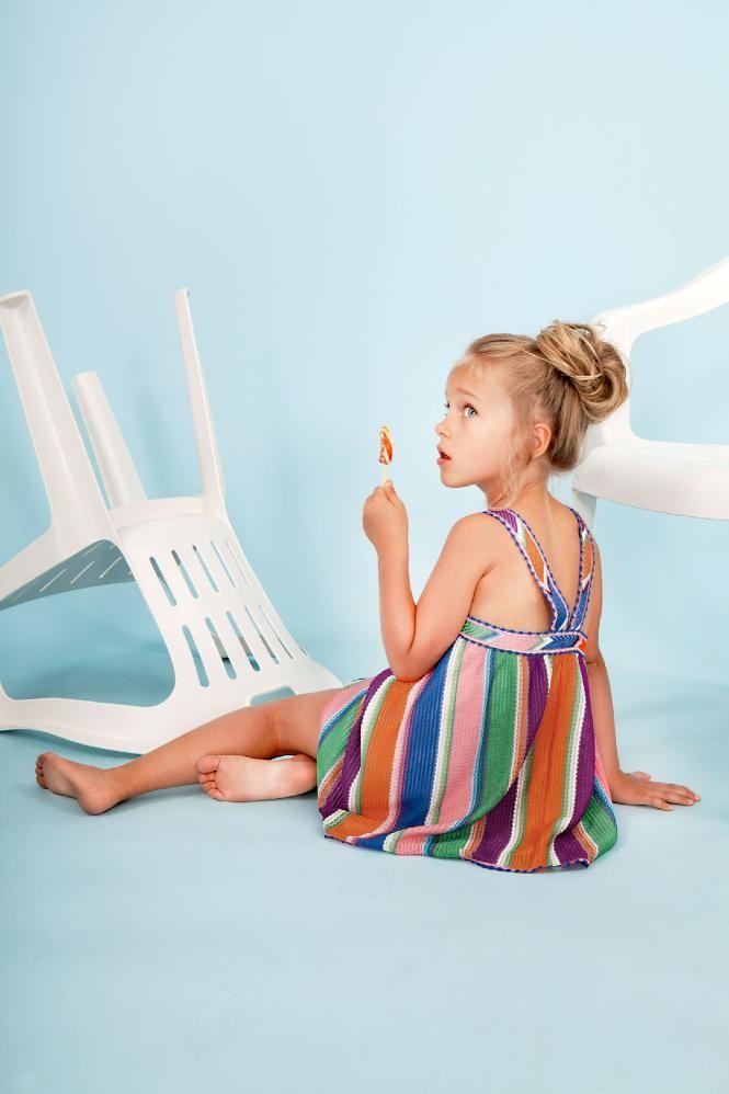 Deckchair striped beach dress at Missoni girls fashion spring/summer 2016