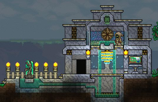 17 best images about terraria on pinterest house design for Best house designs terraria