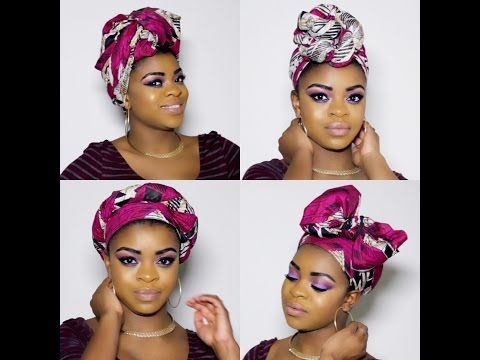 4 Quick and Easy ways to rock a hair wrap- Natural hair – YouTube