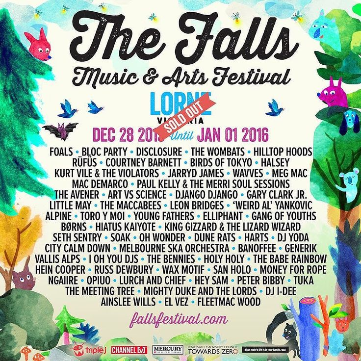 Falls Festival Lorne just got some serious new additions. For those who have tickets say hello to; #thewombats #dunerats #citycalmdown #vallisalps #thebennies #holyholy #tuka #harts and more! #Lorne #music #festival by forte_mag http://ift.tt/1IIGiLS