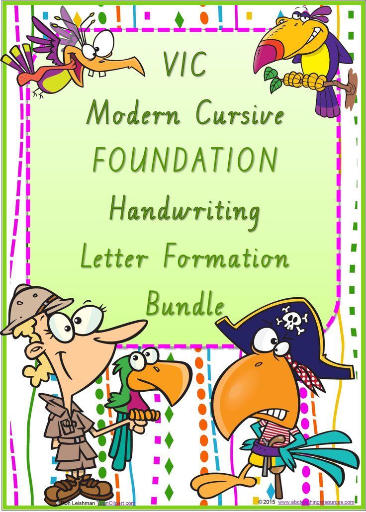 FONT OPTION | Foundation Handwriting| LETTER FORMATION | Bundle | VIC Modern Cursive | PREMIUM RESOURCE