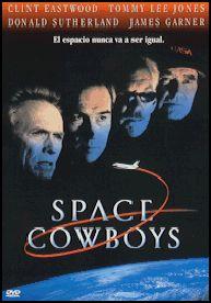 DVD CINE 1793 -- Space cowboys (2000) EEUU. Dir.: Clint Eastwood. Drama. Vellez . Sinopse: catro veteranos pilotos do exército do aire dos Estados Unidos verán cumpridos os seus desexos de converterse en astronautas e viaxar ao espazo con corenta anos de atraso, ao ter que reparar un gran satélite de comunicacións ruso cuxa órbita ha degenerado e corre perigo de caer á Terra, e cuxos sistemas foron deseñados por un deles, Frank Corvin, capitán da misión.