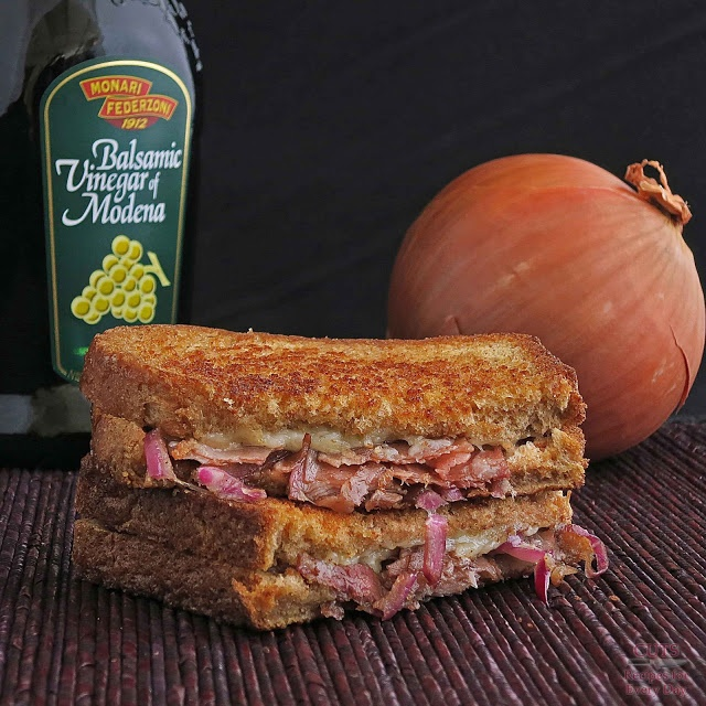Grilled Cheese with Balsamic Onions, Gruyere & Ham