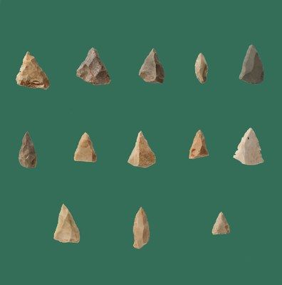 Cattie (Maglie - Italy), Punte musteriane / Mousterian Points (120 - 45,000 years ago)