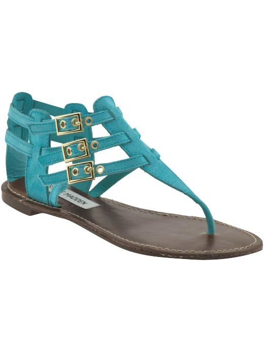 Turquoise. Thong sandals. Steve Madden. i want shoes this color