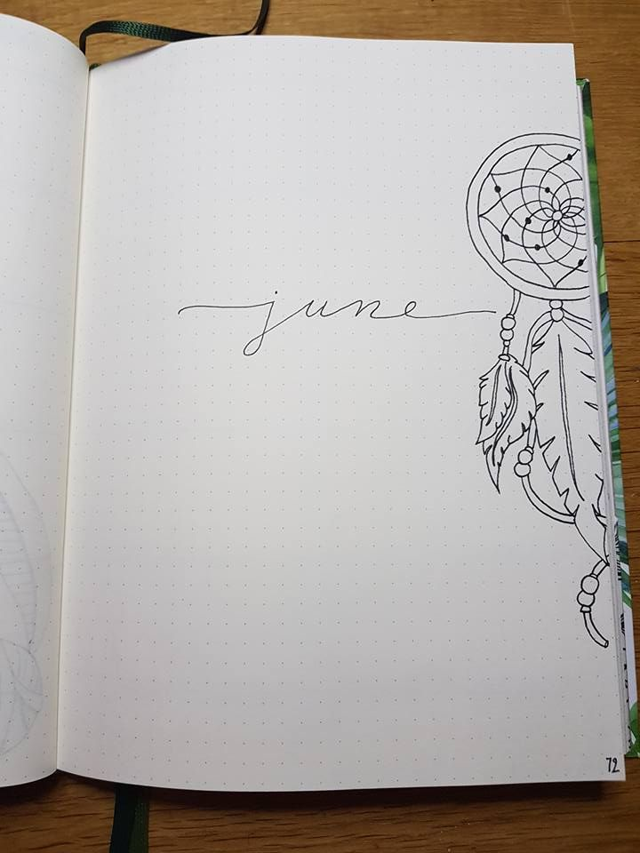 June Monthly Cover Page Bullet Journal Inspiration Bullet Journal Art Bullet Journal Themes