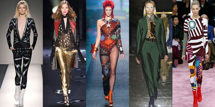 David Bowie Inspired Runway Looks- David Bowie Fashion