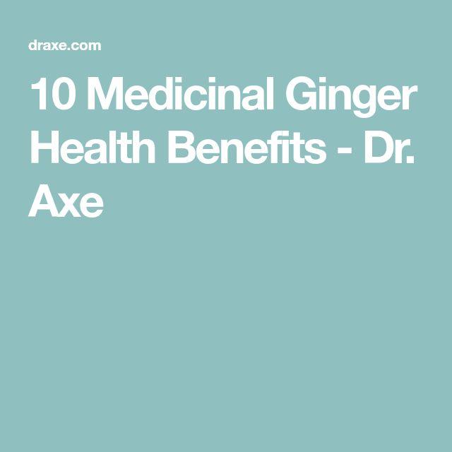 10 Medicinal Ginger Health Benefits - Dr. Axe