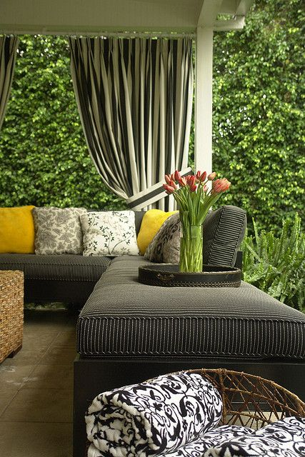 Out Of Doors Patio Stripes Outdoor Pillows Design Exterior Residence Patio Furnishings Curt…