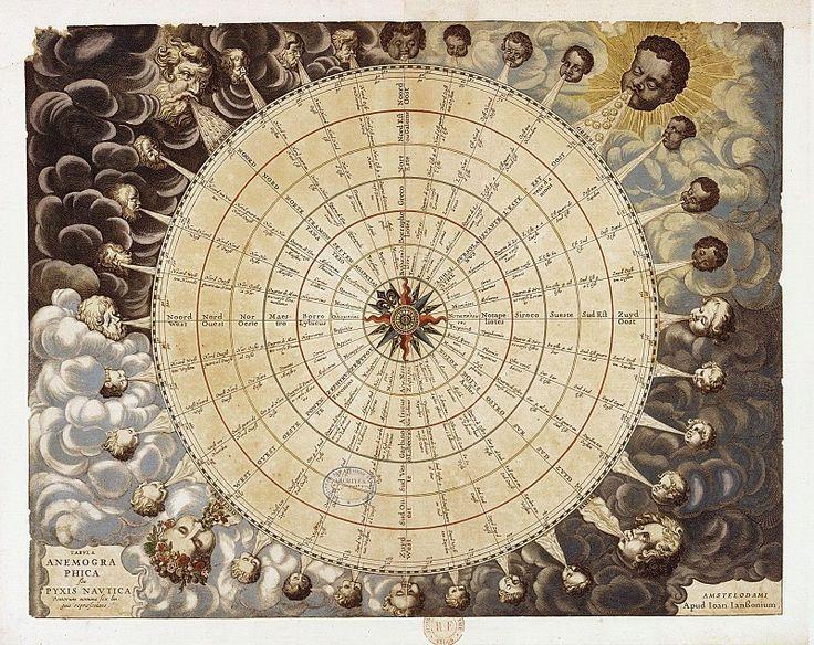vents. Древние карты мира в высоком разрешении - Старинные карты