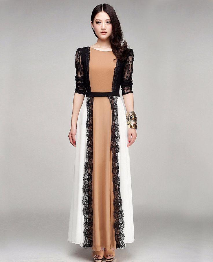 2016 calidad última moda señoras caftán árabe dubai abaya kaftan musulmán encaje detallada vestido de diseño de la ropa islámica para las mujeres en Ropa islámica de Novedad y de uso especial en AliExpress.com | Alibaba Group