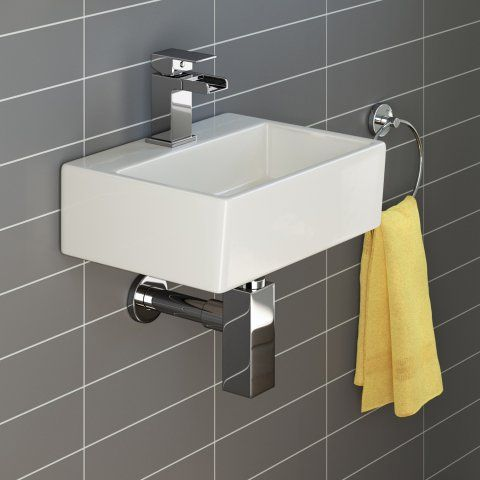 Rita Contemporary Small Cloakroom Wall Hung or Countertop Basin - soak.com