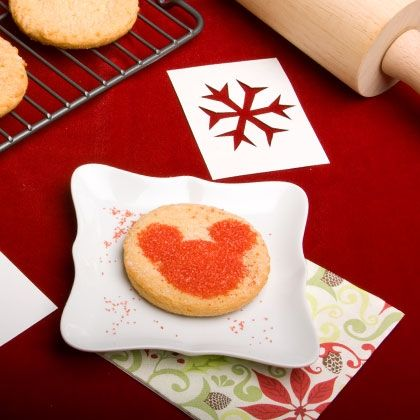 Include a few hidden Mickeys in your batch of Christmas cookies with these easy-to-use stencils.