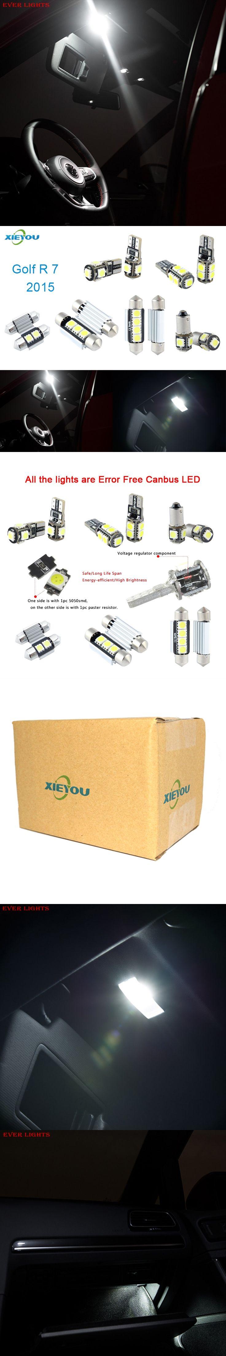 9pcs LED Canbus Interior Lights Kit Package For Volkswagen VW Golf VII R (2015+)