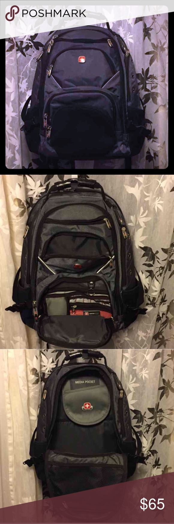 Swiss Gear Back Pack Hiking Pack Fully loaded hiking gear pack in gray and black. Never used SwissGear Bags Backpacks