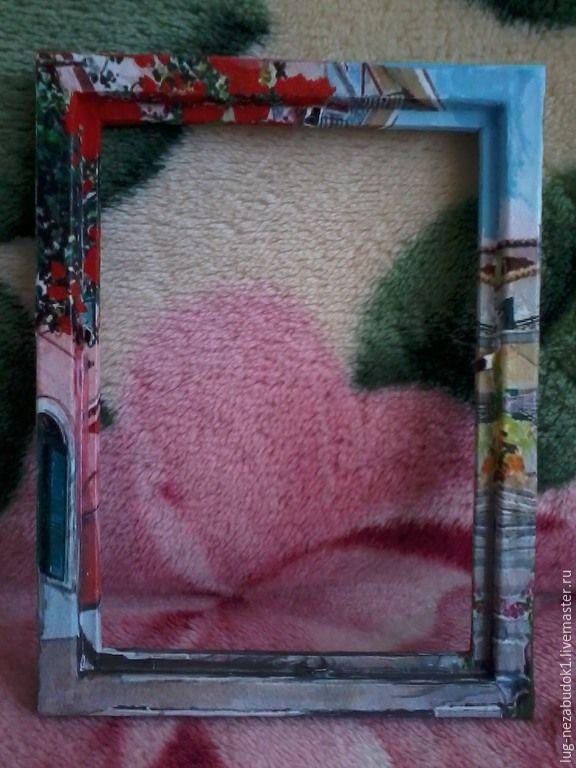 Купить Рамка-картина - сиреневый, Декупаж, рамка, рамка для фото, рамка-картина, подарок