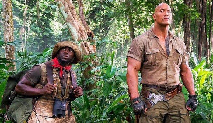 The Rock carrega Kevin Heart no bastidores de 'Jumanji 2' – assista