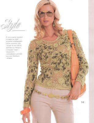 Blusa de Crochet Russo