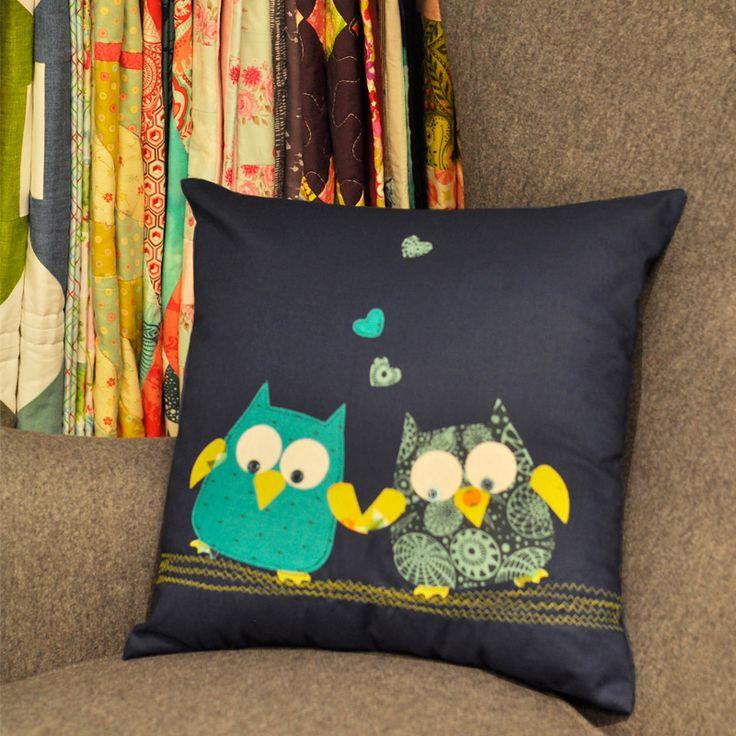 How to Make a Loving Owls Cushion & The 25+ best Owl applique ideas on Pinterest | Free applique ... pillowsntoast.com