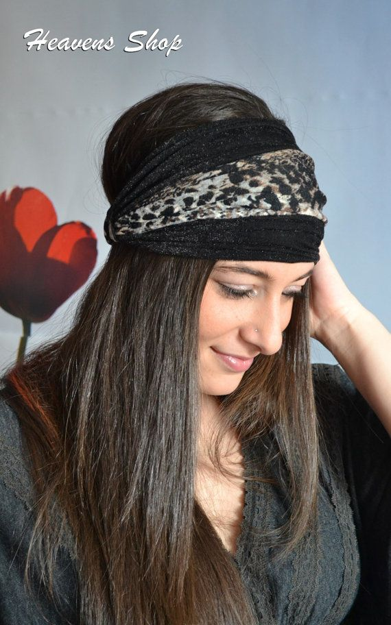 Double Colored Headband Black And Animal Print by HeavensShop, €15.50