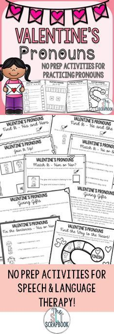 This Valentine's Pronouns pack contains 26 pages of no prep activities to practice the recognition and use of pronouns 'he', 'she', 'him', 'her', 'his', 'hers'. These activities are ideal for use in Speech and Language Therapy sessions, or with students who have English as a Second Language. They're all no prep, so they're great for sending home as homework practice too!