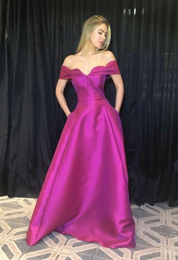 Vestido de festa rosa e fúcsia: 35 longos para usar em 2019   – Vestido de festa longo / Gown