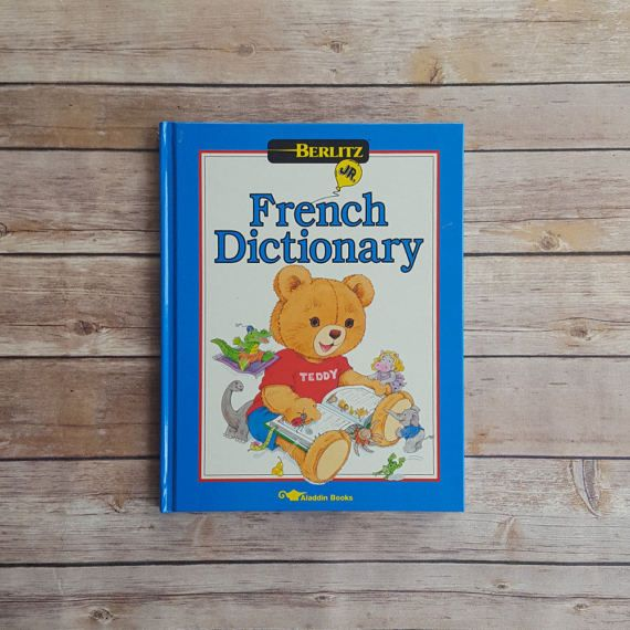 New in The Book Cottage: Children's French Dictionary | French Dictionary for Kids | 1990s Cute French Language Book | Blue Word Reference Book | Livre Français by TheBookCottage