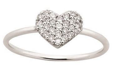Warm the cockles of her heart this Winter with a Karen Walker Diamond Heart Ring, $1669.00 from Walker and Hall