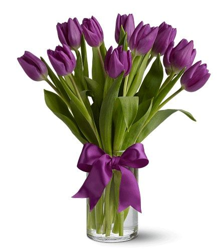 Modern Tulip Arrangements | Purple tulip wedding bouquets | Wedding Flowers
