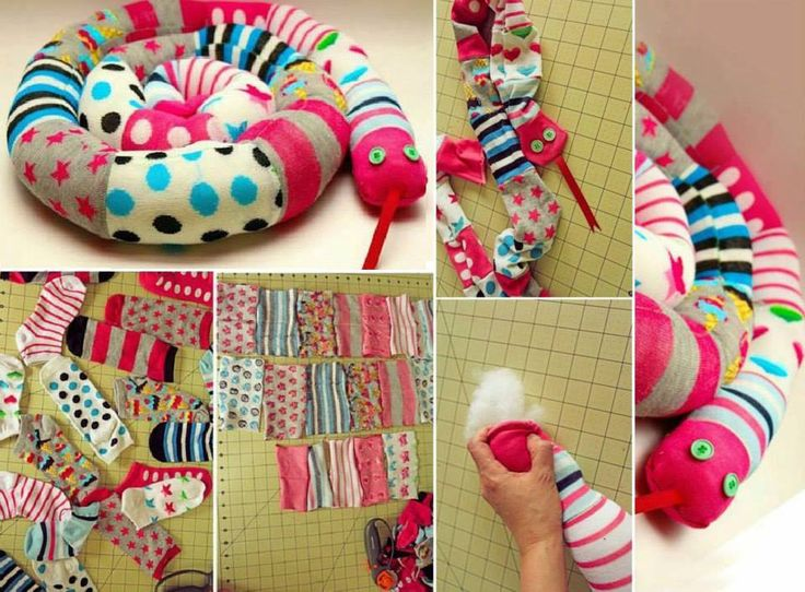 Ecco come riciclare i vecchi calzini... un serpente colorato per giocare! In alternativa lo potremo utilizzare anche come paraspifferi #RicicloCreativo   FOLLOW US ON: facebook.com/CreoEco pinterest.com/CreoEco instagram.com/CreoEco it.dawanda.com/shop/creoeco