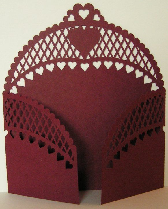 Gate Fold Card cut file from Monica's Craft Room.   Lots more files for free!