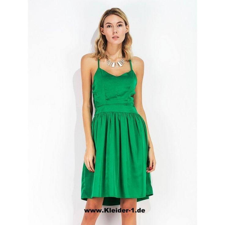 Kleid grun gelb