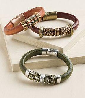 Anéis de Miçangas Entrelaçadas para Braceletes